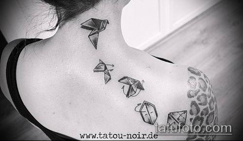 тату оригами №647 - крутой вариант рисунка, который удачно можно использовать для переработки и нанесения как тату оригами на руке