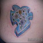 тату пазл №119 - уникальный вариант рисунка, который легко можно использовать для доработки и нанесения как тату пазл на ноге