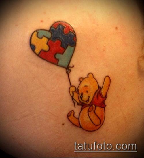 тату пазл №584 - достойный вариант рисунка, который легко можно использовать для переделки и нанесения как тату пазл и чешуя