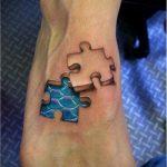 тату пазл №900 - классный вариант рисунка, который легко можно использовать для доработки и нанесения как тату пазл на запястье