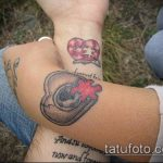 тату пазл №904 - интересный вариант рисунка, который удачно можно использовать для переработки и нанесения как тату пазл акварель