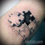 тату пазл №41 - классный вариант рисунка, который успешно можно использовать для переделки и нанесения как тату пазлы на шее