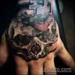 тату пазл №492 - классный вариант рисунка, который удачно можно использовать для переделки и нанесения как тату пазлы на шее