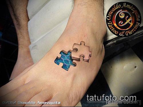 тату пазл №468 - классный вариант рисунка, который хорошо можно использовать для переработки и нанесения как тату пазл на руке
