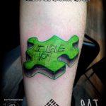 тату пазл №846 - эксклюзивный вариант рисунка, который легко можно использовать для преобразования и нанесения как тату пазл на руке