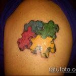 тату пазл №469 - интересный вариант рисунка, который легко можно использовать для доработки и нанесения как тату пазл любовь