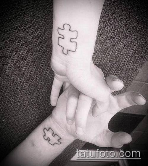тату пазл №382 - эксклюзивный вариант рисунка, который легко можно использовать для переделки и нанесения как тату пазл на голове