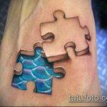 тату пазл №23 - классный вариант рисунка, который хорошо можно использовать для переделки и нанесения как тату пазл космос