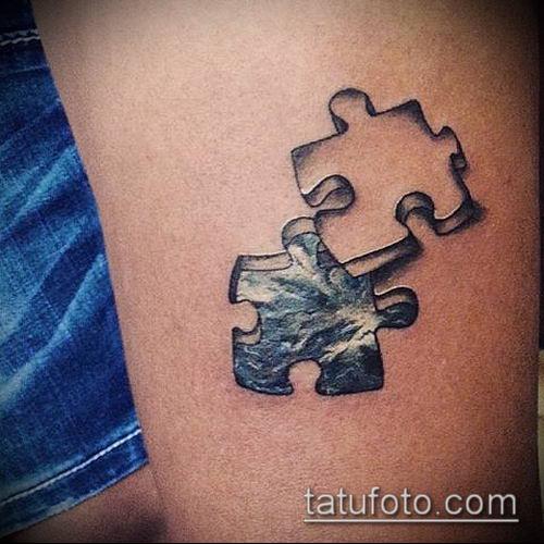 тату пазл №768 - прикольный вариант рисунка, который хорошо можно использовать для переработки и нанесения как тату пазл дерево птицы