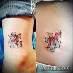 тату пазл №713 - классный вариант рисунка, который успешно можно использовать для переделки и нанесения как тату пазл на плече