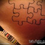 тату пазл №415 - прикольный вариант рисунка, который удачно можно использовать для преобразования и нанесения как тату пазлы на шее