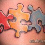 тату пазл №531 - прикольный вариант рисунка, который хорошо можно использовать для переработки и нанесения как тату пазлы на руке
