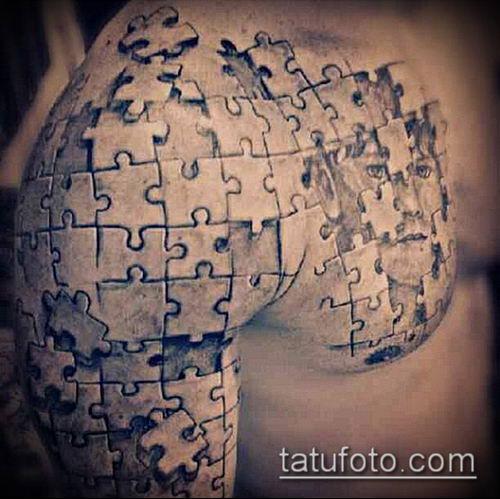 тату пазл №993 - достойный вариант рисунка, который легко можно использовать для переделки и нанесения как Tattoo puzzle