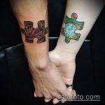 тату пазл №955 - классный вариант рисунка, который удачно можно использовать для переделки и нанесения как тату пазл акварель