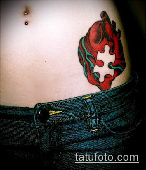 тату пазл №462 - эксклюзивный вариант рисунка, который успешно можно использовать для переделки и нанесения как тату пазл на плече