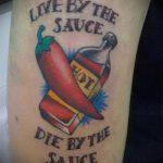 тату перец №150 - классный вариант рисунка, который хорошо можно использовать для переделки и нанесения как тату перец чили