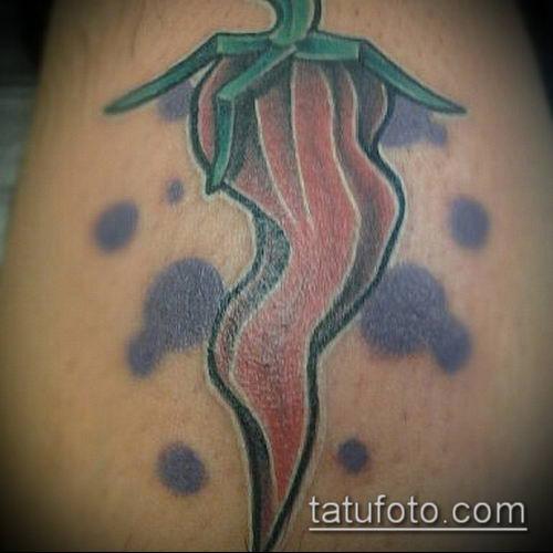тату перец №579 - достойный вариант рисунка, который удачно можно использовать для преобразования и нанесения как Tattoos pepper