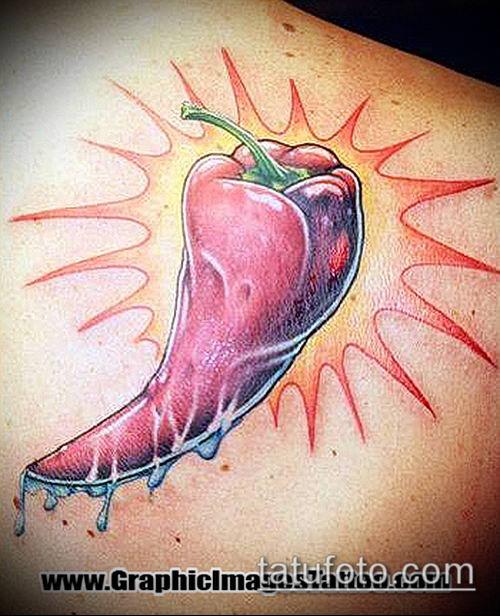 тату перец №161 - эксклюзивный вариант рисунка, который хорошо можно использовать для переработки и нанесения как тату перца на попе
