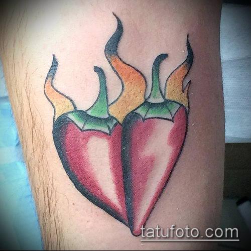 тату перец №272 - интересный вариант рисунка, который хорошо можно использовать для переделки и нанесения как тату перец болгарский