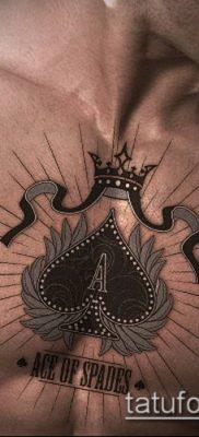 фото тату пиковый туз (Tattoo) (значение) – пример рисунка – 002 tatufoto.com
