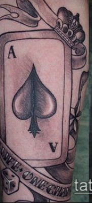 фото тату пиковый туз (Tattoo) (значение) – пример рисунка – 017 tatufoto.com