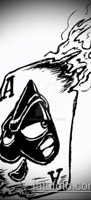 фото тату пиковый туз (Tattoo) (значение) – пример рисунка – 030 tatufoto.com