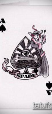 фото тату пиковый туз (Tattoo) (значение) – пример рисунка – 034 tatufoto.com