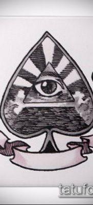 фото тату пиковый туз (Tattoo) (значение) – пример рисунка – 042 tatufoto.com