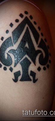 фото тату пиковый туз (Tattoo) (значение) – пример рисунка – 048 tatufoto.com