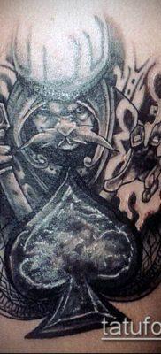 фото тату пиковый туз (Tattoo) (значение) – пример рисунка – 057 tatufoto.com