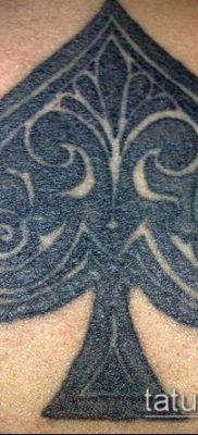 фото тату пиковый туз (Tattoo) (значение) – пример рисунка – 063 tatufoto.com