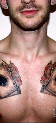 фото тату пиковый туз (Tattoo) (значение) – пример рисунка – 064 tatufoto.com