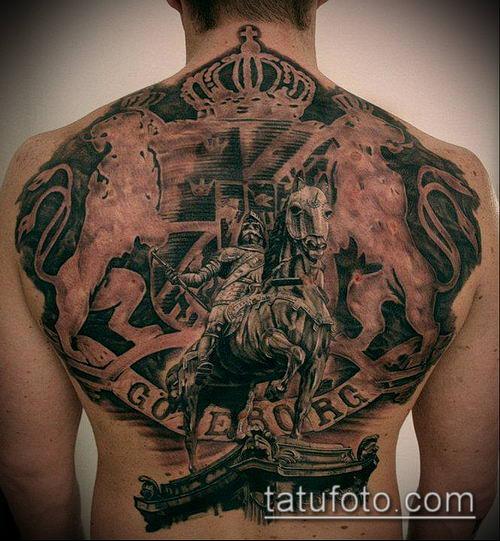 тату рыцарь №212 - достойный вариант рисунка, который удачно можно использовать для доработки и нанесения как тату рыцарь без головы