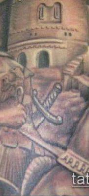 тату рыцарь №761 – эксклюзивный вариант рисунка, который хорошо можно использовать для переработки и нанесения как тату рыцарь ангел