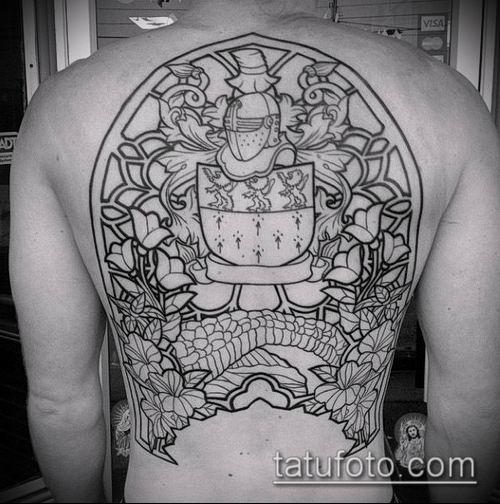 тату рыцарь №573 - достойный вариант рисунка, который хорошо можно использовать для доработки и нанесения как доспехи рыцаря тату