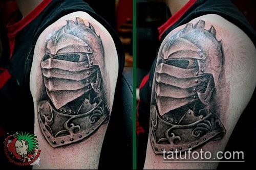 тату рыцарь №791 - эксклюзивный вариант рисунка, который легко можно использовать для преобразования и нанесения как тату рыцарь на руке