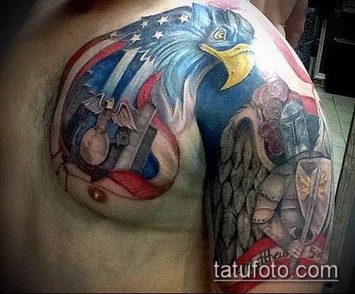 тату рыцарь №345 - интересный вариант рисунка, который легко можно использовать для переделки и нанесения как тату рыцарь самурай и викинги и гладиаторы