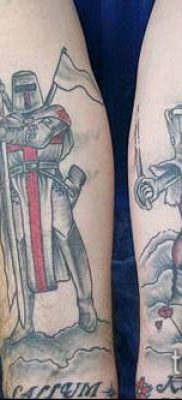 тату рыцарь №622 – классный вариант рисунка, который хорошо можно использовать для доработки и нанесения как тату рыцарь на руке