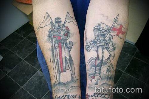 тату рыцарь №622 - классный вариант рисунка, который хорошо можно использовать для доработки и нанесения как тату рыцарь на руке