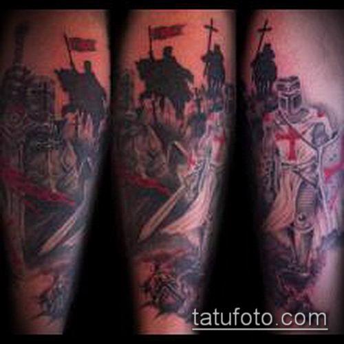 тату рыцарь №18 - интересный вариант рисунка, который удачно можно использовать для доработки и нанесения как Tattoo knight