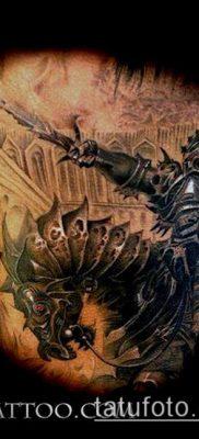 тату рыцарь №835 – классный вариант рисунка, который удачно можно использовать для переделки и нанесения как тату рыцарь смерти