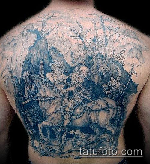 тату рыцарь №139 - классный вариант рисунка, который успешно можно использовать для переделки и нанесения как тату рыцарь с мечом