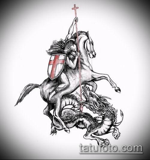 тату рыцарь №49 - эксклюзивный вариант рисунка, который успешно можно использовать для преобразования и нанесения как тату в стиле рыцарей