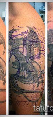 тату рыцарь №835 – интересный вариант рисунка, который хорошо можно использовать для переработки и нанесения как тату в стиле рыцарей