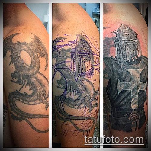 тату рыцарь №835 - интересный вариант рисунка, который хорошо можно использовать для переработки и нанесения как тату в стиле рыцарей