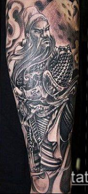 тату рыцарь №116 – достойный вариант рисунка, который удачно можно использовать для доработки и нанесения как тату рыцари викинги