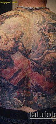 тату рыцарь №331 – крутой вариант рисунка, который легко можно использовать для переработки и нанесения как тату рыцарь смерти