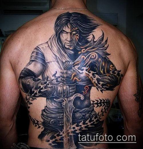 тату рыцарь №10 - уникальный вариант рисунка, который хорошо можно использовать для переделки и нанесения как тату рыцарь на коне