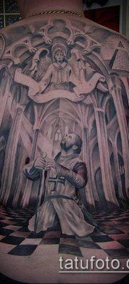 тату рыцарь №430 – интересный вариант рисунка, который успешно можно использовать для доработки и нанесения как тату рыцарь самурай