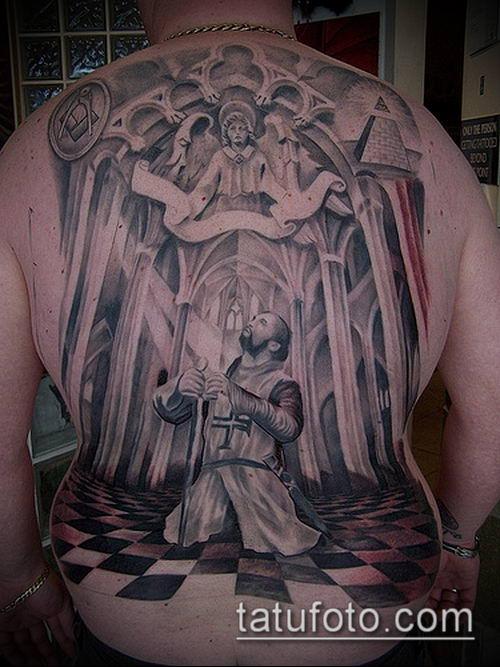 тату рыцарь №430 - интересный вариант рисунка, который успешно можно использовать для доработки и нанесения как тату рыцарь самурай